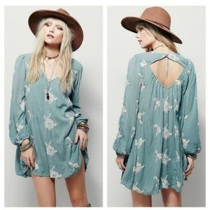 Free People Emma Floral Embroidered Mini Dress
